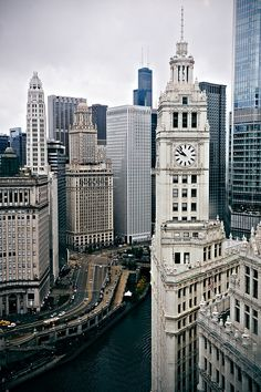Wrigley Building from Tribune Tower by K.M. Mahon, via Flickr