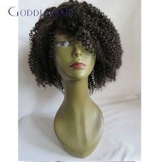 Malaysia virgin hair short human hair lace wigs afro kinky human hair with bangs glueless curly wig bleached knot with baby hair