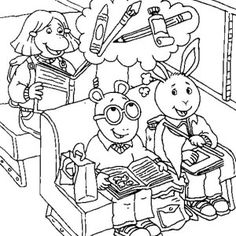 Arthur Arthur Read And Buster Baxter Is Going Camping Coloring Page