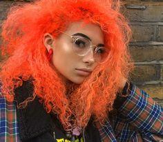 Auburn, Curly Hair Styles, Natural Hair Styles, Red To Blonde, Aesthetic Hair, Alternative Hair, Coloured Hair, Dye My Hair, Rainbow Hair