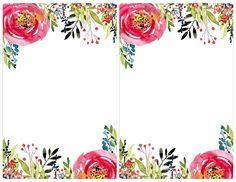 Floral Invitation Template free printable. Free invitation template for a birthday party, wedding, bridal shower, baby shower. Flower invitation templates.