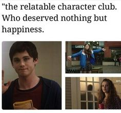 Charlie (The Perks of Being a Wallflower), Nadeen (The Edge of Seventeen), Hannah (13 Reasons Why)