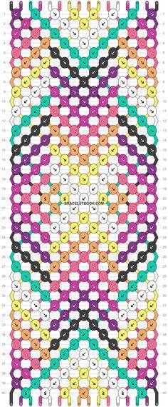 Friendship Bracelet Patterns, Friendship Bracelets, Chevron Bracelet, Embroidery Bracelets, Bracelet Crafts, Beautiful Patterns, Weaving, Dots, Crafting