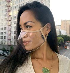 Clear Face Mask, Easy Face Masks, Diy Face Mask, Mouth Mask Fashion, Fashion Face Mask, Diy Fashion, Ideias Fashion, Fashion Fabric, Diy Kleidung