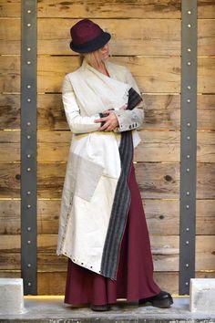 LOOK 43#LENASTORE Giacca fatta a mano con tessuti vintage GREG LAUREN Gonna ANTONIO MARRAS http://www.lenafashion.it/capi/greg-lauren-giacca-asimmetrica-tessuti-vintage.html