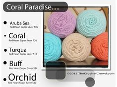 Coral Inspired Yarn Colours