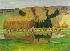 The Flooded Meadow John Northcote Nash British Artist, Landscape Paintings, Landscape Artist, Painting, British Art, Art, Aberdeen Art Gallery, Art Uk, Landscape Art