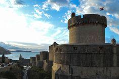 The imposing Minčeta Tower and old city walls in Dubrovnik, Croatia | heneedsfood.com