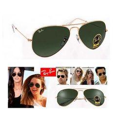 5b768a8977554  Promoçao Oculos Aviador Ray-ban Verde Com Dourado Masculino Feminino
