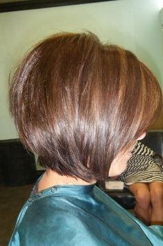 Short layered bob.