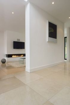 Alternative to going grey. Papyrus Honed Limestone floor tiles from Mandarin Stone (UK). click now for more info. Stone Tile Flooring, Travertine Floors, Modern Flooring, Stone Tiles, Kitchen Flooring, Flooring Ideas, Vinyl Flooring, Penny Flooring, White Flooring