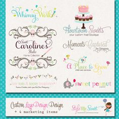 Custom Logo Design and Business Package  by stylemesweetdesign, $400.00