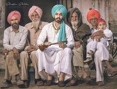 Guri 😊 Kurta Pajama Punjabi, Punjabi Culture, Art Village, Alan Watts, Suit Accessories, Incredible India, Vintage Pictures, Turban, Couple Goals