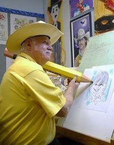 Cartoon Artist, Bill Crowley. Size DOES matter!