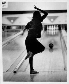 an original press photo from 1984 featuring Venezuela's Mariela Cedeno shows her form as she urges the ball down the lane during opening round competition of the 15th Annual Bowling Tournament of the Americas, July 10, at Clover leaf Lanes. Cedeno threw a 541 set to help the Venezuelan mixed foursome team to fifth place after three games with 2,179 pins. The United States foursome is in first place with a pinfall of 2,282 The tournament, which runs through July 16 features more than 100 bowl...