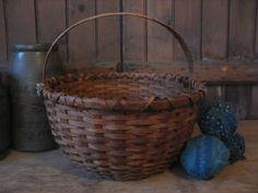 Large round storage basket.