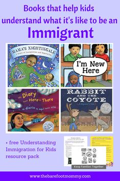 Help children understand what it's like to be an immigrant and increase their empathy with these children's books, videos, and discussion ideas. Click through for your free understanding immigration for kids resource pack!