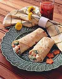 Chicken & Vegetable Tortilla Roll-Ups