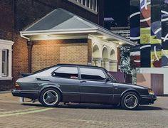 Saab 900 Classic Superb style Grey with aero rims