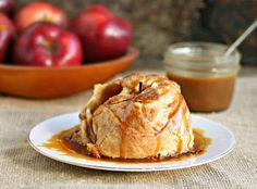 Hungry Couple: Apple Dumplings with Salted Caramel Sauce