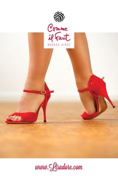 Stunning Red High Heels Dancing  Shoes for Tango, Salsa and Bachata Handmade by Comme il Faut!