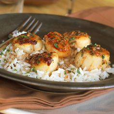 Portuguese Style Scallops from Cooking Light. I have made these before and they are very good and easy!