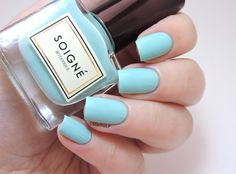 Soigne 'Menthe' ~ opaque in two coats ~ swatch by Marine Loves Polish