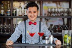 Barman at the counter