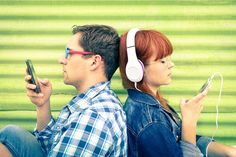 Hipster couple in disinterest moment with mobile phones - Concept of apathy sadness and isolation using new technologies - Boyfriend and girlfriend with smartphones addiction - Vintage filtered look - stock photo Dating Memes, Dating Advice, Hipster Couple, Smartphone, Online Dating Profile, Dating Coach, After Break Up, Marriage Advice, Breakup Advice