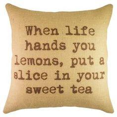 Lemons Pillow