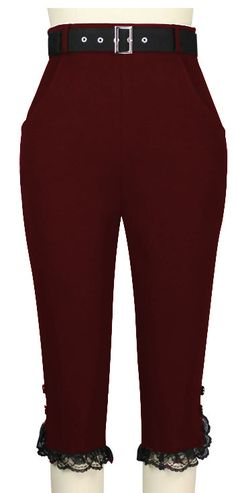 Retro High Waist Pants Chic Star design by Amber Middaugh