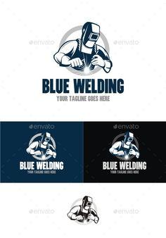 Blue Welding Logo Template Vector AI. Download here: http://graphicriver.net/item/blue-welding/10695361?ref=ksioks
