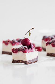 A simple recipe for chocolate and cherry vanilla ice cream bars. Vegan & Gluten/Grain Free! #icecream #veganrecipes #frozendesserts #grainfree