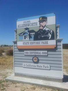At the Entry of Colonel Allensworth State Historic Park: Why Taking Your Family to Off-the-Beaten-Path places is so important.