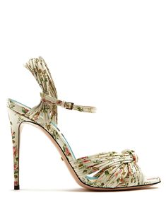 f52ae6667 Click here to buy Gucci Allie rose-print leather sandals at  MATCHESFASHION.COM White