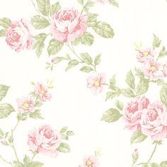 302-66875 Blush Floral Trail - Bloom - Beacon House Wallpaper