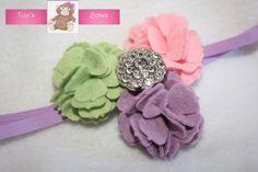 Springtime Felt Flower Headband by aubreytoe on Etsy, $8.99