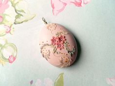 Polymer Clay Applique Technique | Ballerina Large polymer clay pendant by DandelionJewellery