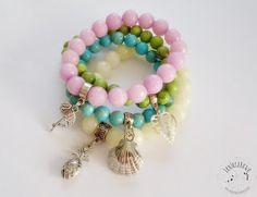Inspiracje Projektantek Beaded Bracelets, Jewelry, Fashion, Moda, Jewlery, Jewerly, Fashion Styles, Pearl Bracelets, Schmuck