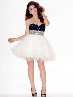 A-line Sweetheart Sleeveless Short/Mini Tulle Cheap Homecoming Dresses/Short Cheap Prom Dress #FD029 - Cocktail Dresses - Special Occasion D...