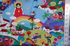 Alexander Henry Fabric Folklorico Zocala Virgin of Guadalupe Day of the Dead