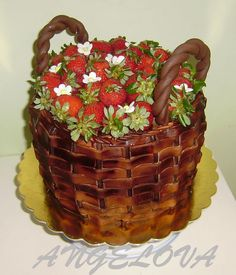 Just Cakes, Cakes And More, Cake Cookies, Cupcake Cakes, Cake Decorated With Fruit, Super Torte, Cake Basket, Crunch Cake, Cake Craft