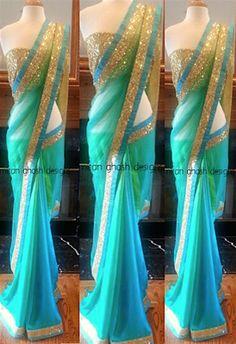 Creamiest White Plain Net Mm Designer Saree With Blouse Piece Sarees on Shimply.com