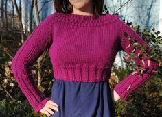 Mom, check this out  January Cropped Sweater: Free Knitting Pattern Download - Fabric.com Blog....