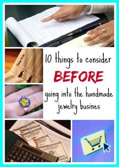 Resin Obsession blog:  10 questions you need to be able to answer before you start selling your handmade jewelry