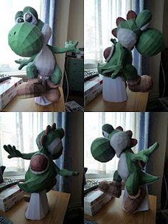Nintendo papercraft project: Yoshi (in progress)