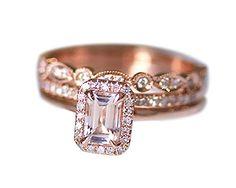 Rlovehome 3PCS Emerald Cut 4x6mm 0.85ct Pink Natural VS Morganite Diamonds Engagement Ring Set Wedding Ring Set Anniversary Ring Set in Solid 14k Rose Gold (J) Rlovehome http://www.amazon.co.uk/dp/B01AJP2WOM/ref=cm_sw_r_pi_dp_Jh17wb1FYGNB1