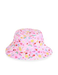 Printed with colourful emojis, our cotton sun hat for girls will keep her trendy and comfy in the sunshine.