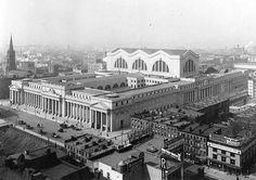The James A. Farley Post Office at 33rd Street & 8th Ave (built in 1912). The 8th Avenue facade was built to match the grandeur of Pennsylvania Station across the street.