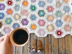 The Rescue Quilts – #10 – A Grandmother's Flower Garden Quilt